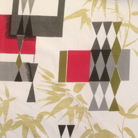 Geometric Atomic Bamboo 50s Mid Century Modern Vintage Fabric Lampshade option