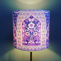 Lovely Purple Pink Pat Albeck Minaret  60s 70s vintage fabric Lampshade option