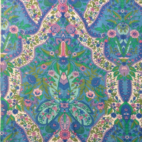 Blue Green and PInk SHALIMAR Jonelle Vintage Fabric Lampshade option