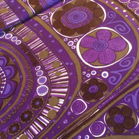 RARE Purple Scandi Nordic style 60s 70s Vintage Fabric Lampshade option