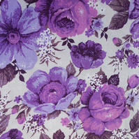 Purple Passion 60s 70s  Flower Power Hippy Vintage Fabric Lampshade option