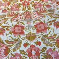 Floral Pink PENDJAB French  Vintage Fabric by Laurent Steve Lampshade option