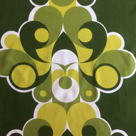 Fab MOD MCM GREEN VIntage Abstract 60s 70s Fabric Lampshade option