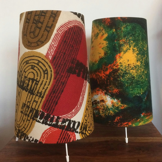 Retro Vintage  Fabric Lamp