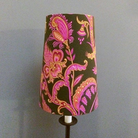 French Art Nouveau Style Pink lampshade in Ornate Vintage Fabric