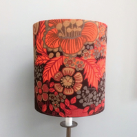 Scandinavian Mid Century Modern Style Lampshade in BORAS vintage fabric