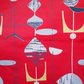 Geometric Atomic MOBILES 50s Mid Century Modern Vintage Fabric Lampshade option