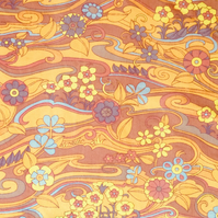 Pop Art Orange Water Garden Jonelle 60s 70s Vintage Fabric Lampshade option
