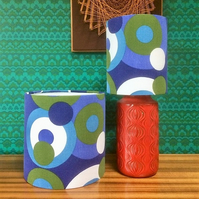 Geometric Circles Mod LIZA CALEY 'MAGPIE'  Vintage Fabric Lampshade option