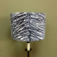 Bold MOD Monochrome VIntage Abstract 60s 70s Fabric Lampshade option