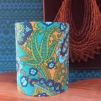 Funky Paisley 60s 70s Vintage Fabric Lampshade