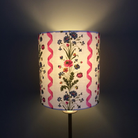 Pretty Pink Ribbon and Flowers French Vintage Fabric Lampshade option