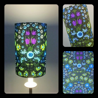 Deliciously Dark Floral Daisy Chain Pat Albeck  vintage fabric Lampshade option