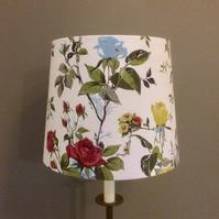 Pretty 50s Summer Rose Fothergay VIntage Barkcloth Fabric Lampshade option