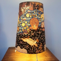 RARE Dramatic Black Animal Kingdom Sanderson VIntage fabric Lampshade Option