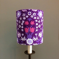 Purple Passion Floral Daisy Chain Pat Albeck  vintage fabric Lampshade option