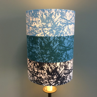 Abstract FOTEXUR Black Blue Stripe Tibor Riech Vintage Fabric Lampshade