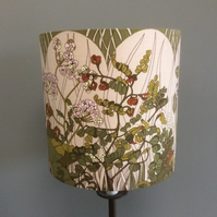 Countryside Bardfield Sage Green Moygashel VIntage Fabric Lampshade option