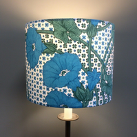 Morning Glory AMBLE Blue Green Grafton Vintage style Fabric Lampshade option