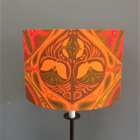 Exotic Orange ZANZIBAR Hippy Jonelle 60s 70s Vintage Fabric Lampshade option