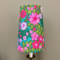60s 70s GROOVY HIPPY green pink Flower power vintage fabrics Lampshade option