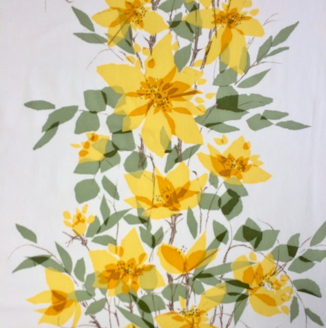 Pretty Yellow  Flower Cottilian Jonelle VIntage fabric Lampshade option