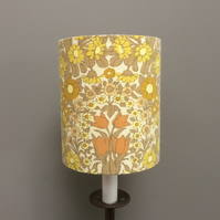 Mellow Yellow Floral Daisy Chain Pat Albeck  vintage fabric Lampshade option