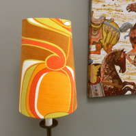 GROOVY MOD ABSTRACT GEOMETRIC Zesty colours Vintage Fabric Lampshade Retro Cone