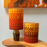 Yellow and Orange DECOPLUS Dots  Vintage Fabric Lampshade option