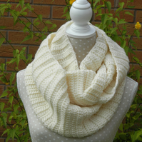 Snood, Cowl , Scarf In Cream