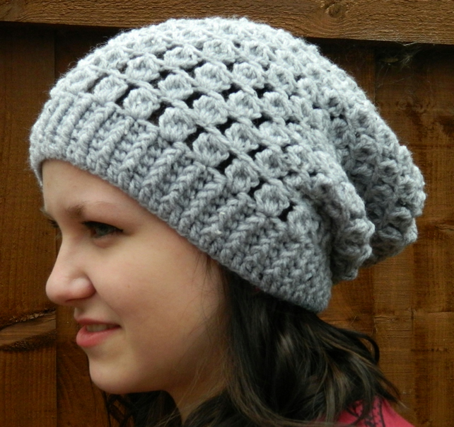Grey Slouchy Hat