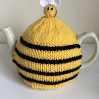 Hand Knitted Medium Bee Hive Tea Cosy