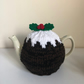 Medium Knitted Christmas Pudding Tea Cosy Cozy for 4-6 Cup Teapot