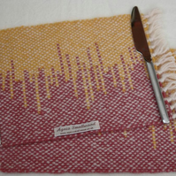 Hand Woven Wool Placemats (small) - Set of 2 - Pink and Yellow