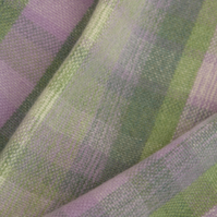 Luxury hand woven lambswool scarf. Duck egg, green, cream, light purple.