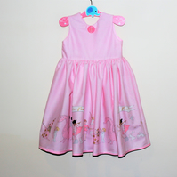 Unicorn children's party dress - summer dress - picnic dress