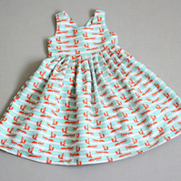 F0x print children's party dress