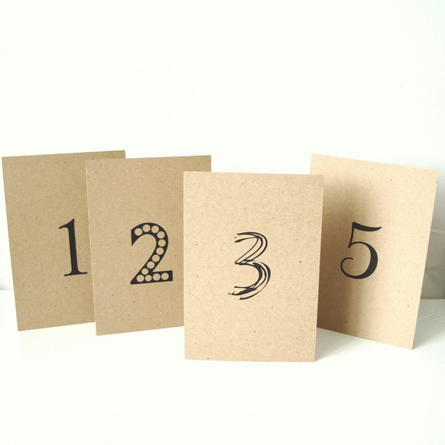 Simple Table number set of 10