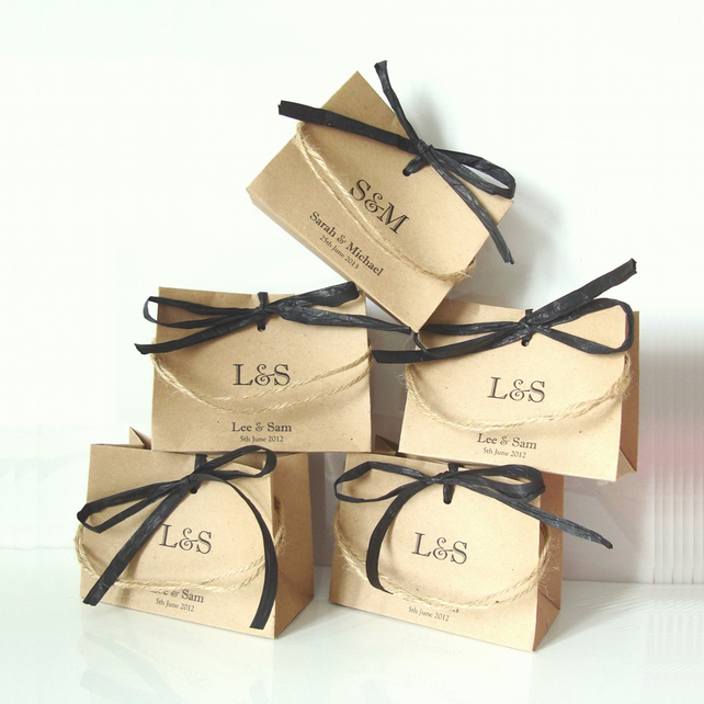 Wedding favour bags set of 5