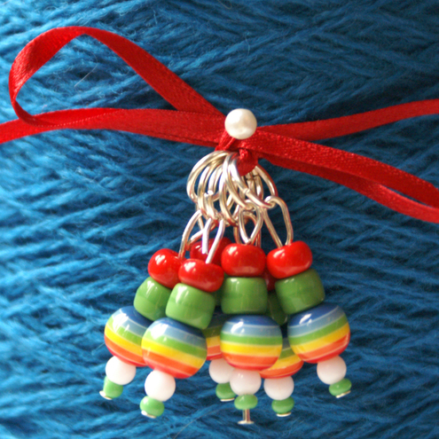 cute beaded stitch markers