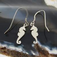 Sterling Silver Seahorse Earrings