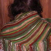 Woodland Stripey scarf or shawlette