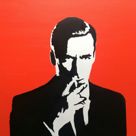 Don Draper Mad Men Spray Paint on Canvas