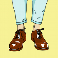 Sockless Wonder - Limited Edition A3 Giclee Print