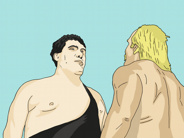 Andre vs Hogan - Limited Edition Giclee Print A3