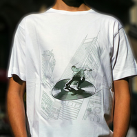 Supafresh Returns - Men's white cotton T shirt