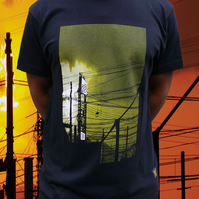 uchi sunset  Men's navy blue T shirt