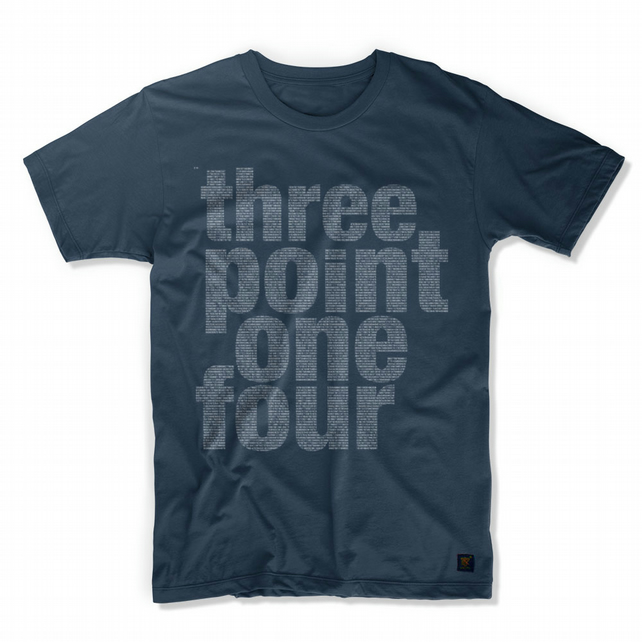 Three point one four men's T shirt