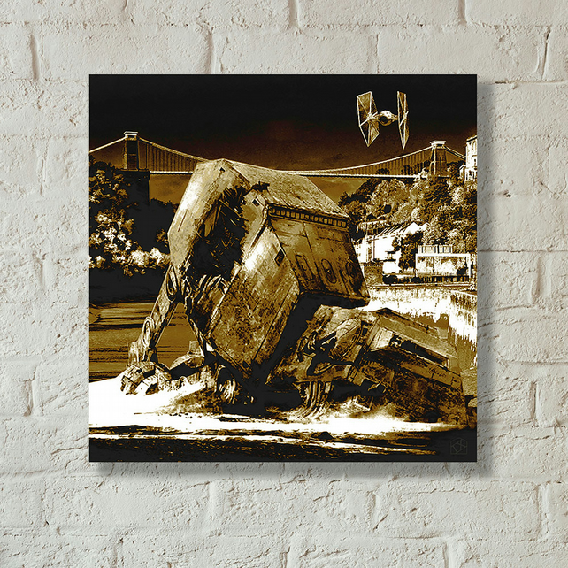 Star Wars vs Bristol Episode II - Walker Down Over Avon Gorge - Canvas print