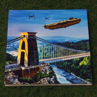Star Wars vs Bristol Episode I - Dog Fight Over Avon Gorge - Canvas print